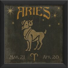 Zodiac Aries Framed Graphic Art