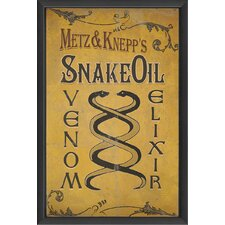 Snake Oil Venom Elixir Wall Art