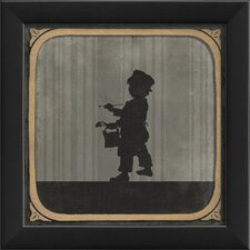 Little Boy Painting Framed Graphic Art