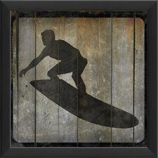 Surfer VII Framed Graphic Art in Black and Gray