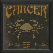 Zodiac Cancer Framed Graphic Art