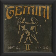 Zodiac Gemini Framed Graphic Art
