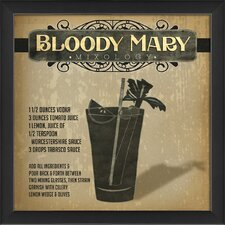 Bloody Mary Mixology Framed Vintage Advertisement