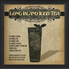 Long Island Iced Tea Mixology Framed Vintage Advertisement