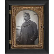 Albert Einstein Tintype Framed Photographic Print