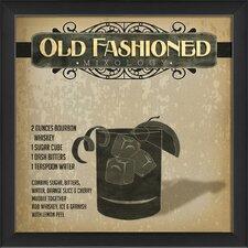 Old Fashioned Mixology Framed Vintage Advertisement