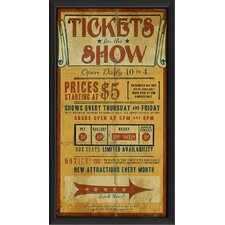 Tickets for the Show Wall Art