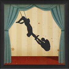 Stage Acrobats Framed Graphic Art