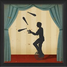 Stage Juggler Framed Graphic Art