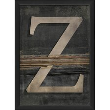 <strong>Blueprint Artwork</strong> Letter Z Wall Art