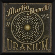 <strong>Blueprint Artwork</strong> Klaproth No 92 Uranium Wall Art