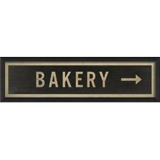 Sign Bakery Right Framed Textual Art