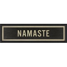 Sign Namaste Framed Textual Art