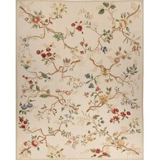 Classic Aubusson Branches Wedgewood Flowers Rug