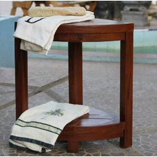 2 Tier Classic Spa Teak Bathroom Elegance Shelf