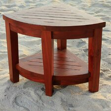 Classic Teak Corner Spa Shower Chair
