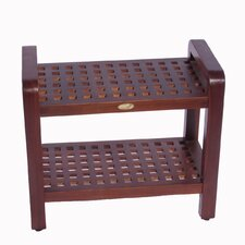 Teak Grate Shower Bench