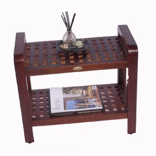 Teak Grate Bathroom Elegance Storage Free Standing Shelf