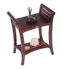 LiftAide Symmetry Teak Extended Height Shower Bench