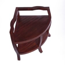 <strong>Decoteak</strong> Lift Aide Contemporary Teak Spa Corner Shower Stool