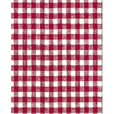 """56.5"""" x 60 Red Gingham Unsupported Vinyl (Set of 60)"""