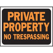 Private Property No Trespassing Sign (Set of 10)