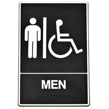 Braille Men Handicap Access Sign