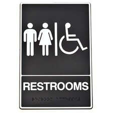 Braille Restroom Handicap Access Sign