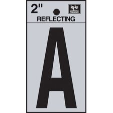 "2"" Self Stick Reflective Letter"