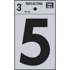 Self Stick Reflective Number