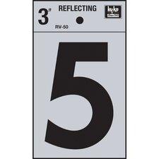 Self Stick Reflective Number