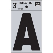 Self Stick Reflective Letter