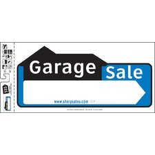 "10"" x 22"" Garage Sale Sign"