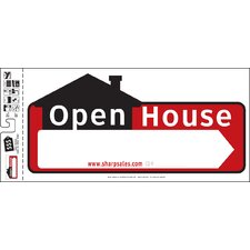 """10"""" x 22"""" Open House Sign"""