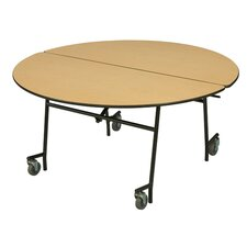 "29"" x 48"" Round Mobile Table Unit"
