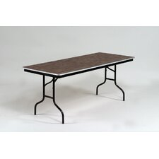 ET Series Rectangular Folding Table with Aluminum Edge