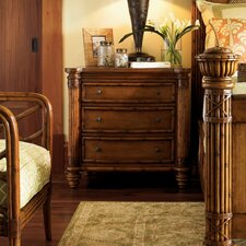 Island Estate Barbados 3 Drawer Nightstand