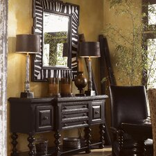 Kingstown Regiment Console Table and Mirror Set