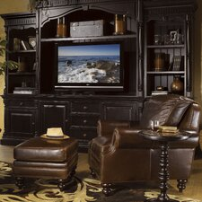 Kingstown Warmick Leather Chair and Ottoman