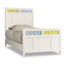 Lily Panel Bed in Eggshell White