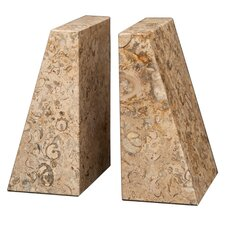 <strong>Designs by Marble Crafters</strong> Fossil Stone Zeus Book Ends (Set of 2)
