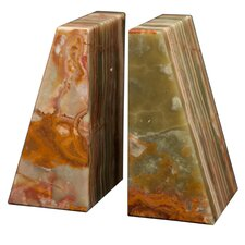 Whirl Green Onyx Zeus Book Ends (Set of 2)