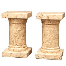 <strong>Designs by Marble Crafters</strong> Fossil Stone Platanus Book Ends (Set of 2)