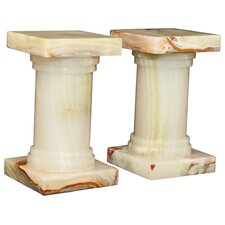 <strong>Designs by Marble Crafters</strong> Light Green Onyx Platanus Book Ends (Set of 2)
