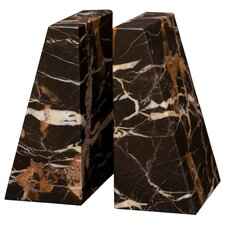 <strong>Designs by Marble Crafters</strong> Black and Gold Zeus Book Ends (Set of 2)