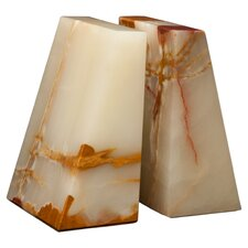 <strong>Designs by Marble Crafters</strong> Light Green Onyx Zeus Book Ends (Set of 2)