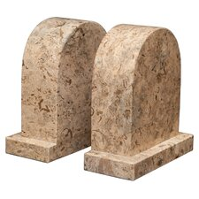 <strong>Designs by Marble Crafters</strong> Fossil Stone Metis Book Ends (Set of 2)