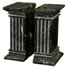 Black Zebra Marble Renaissance Book End (Set of 2)