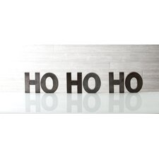 "Holiday Decor ""Ho Ho Ho"" Display Letters"