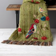 Birds Recycled Wool / Acrylic Throw